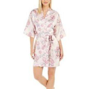 Flora Nikrooz  Womens Robe  L/XL Pink Flower Print